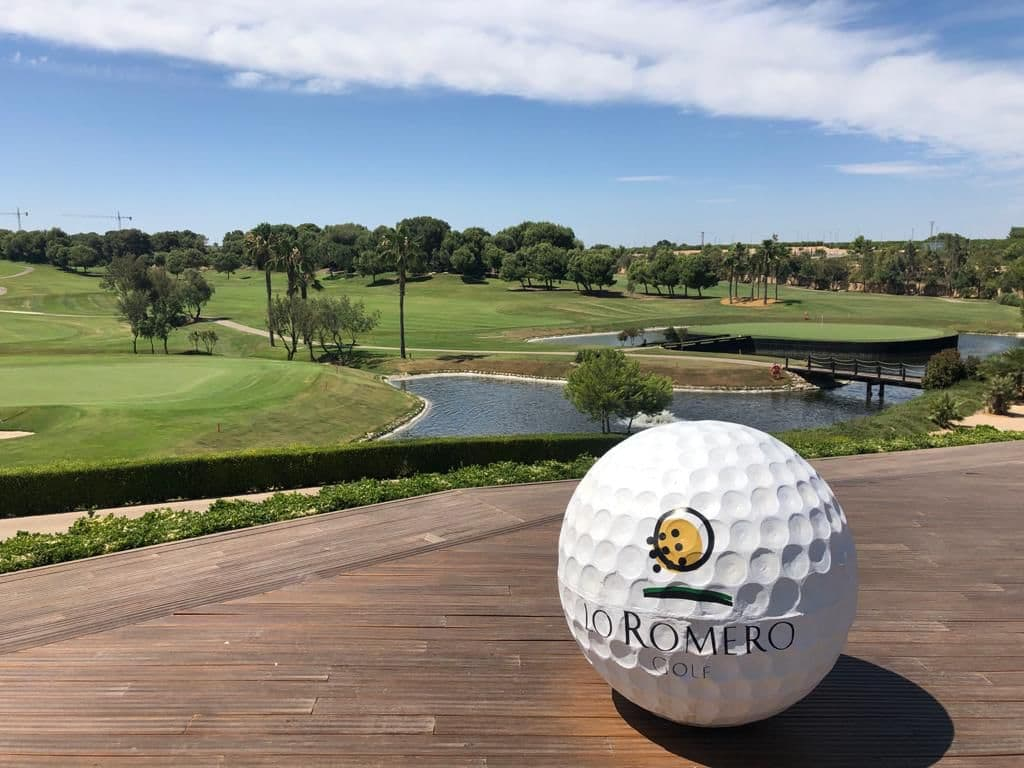 Views from terrace of 9th and 18th greens in Lo Romero Golf