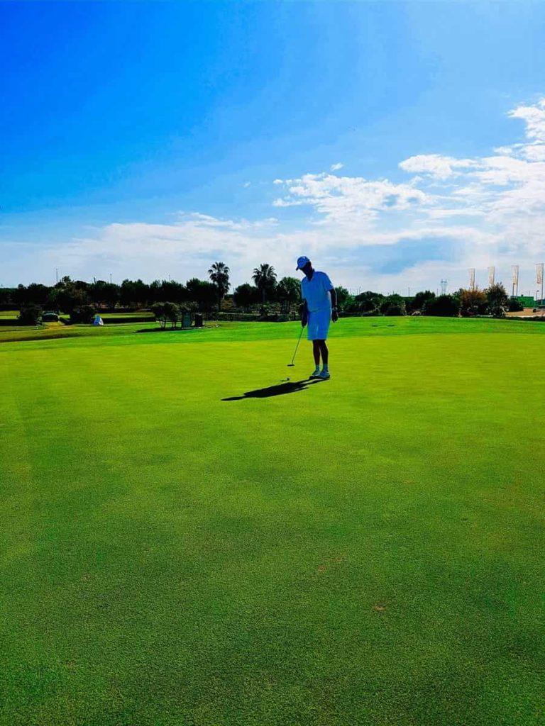17th green in Lo Romero Golf
