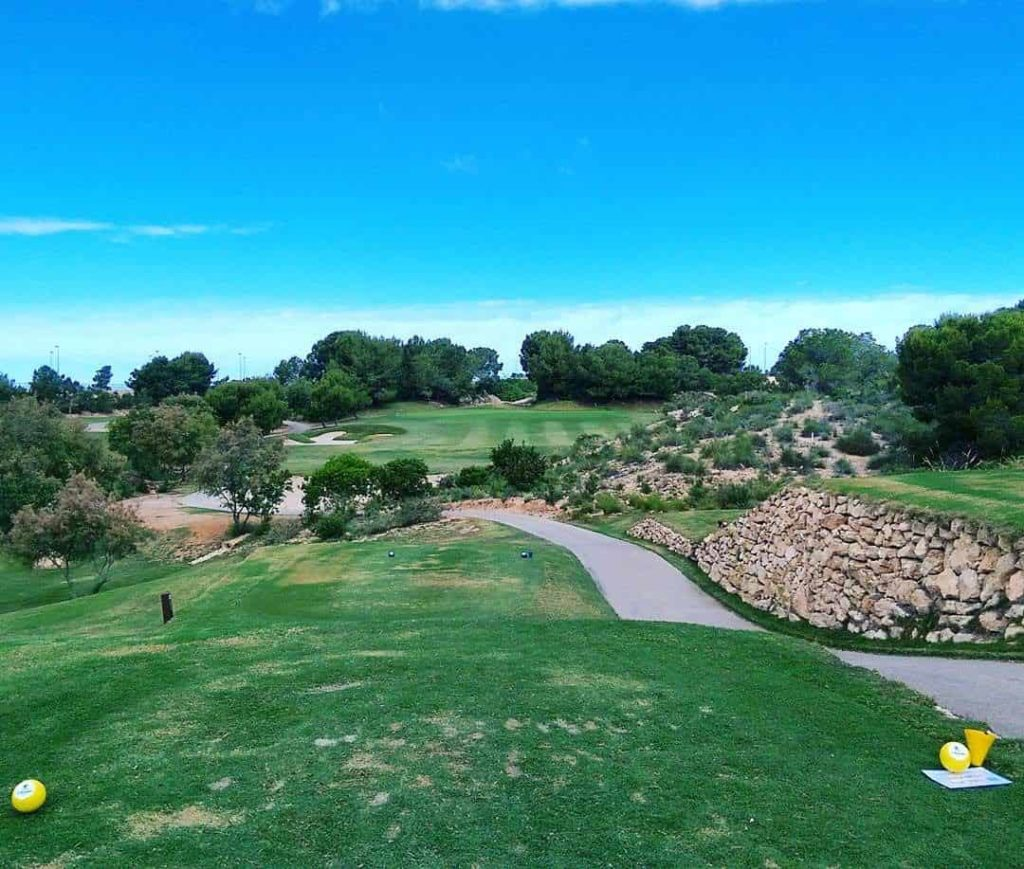 A view of Lo Romero Golf, par 3, 5th hole